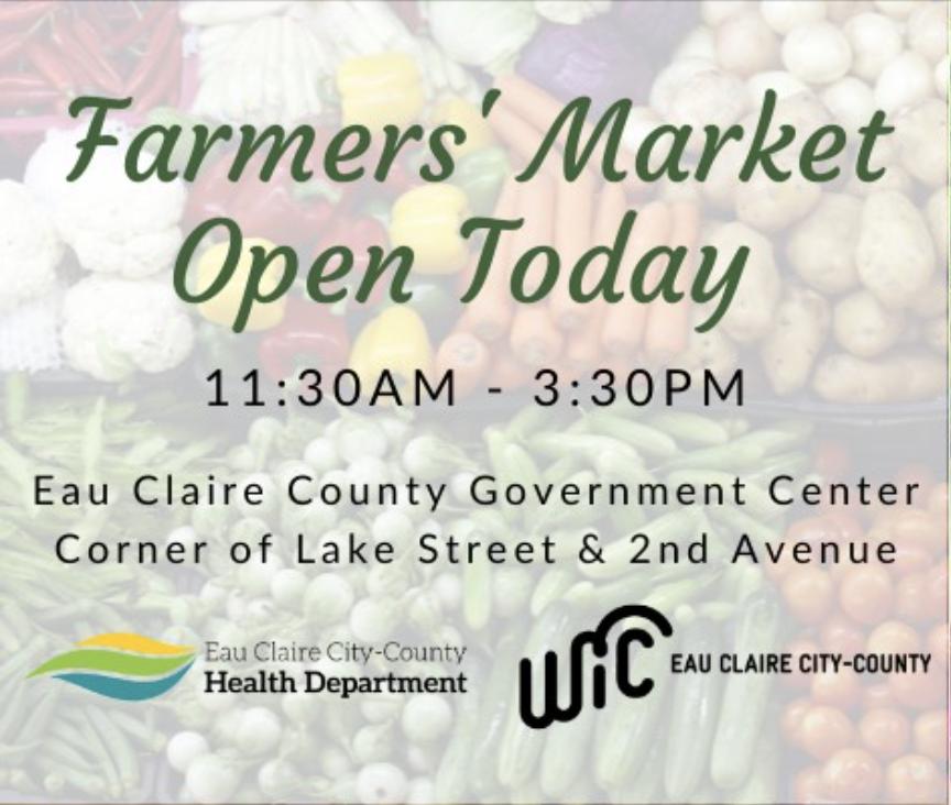 Eau Claire City-County Health Department Farmer's Market @ Eau Claire County Government Center